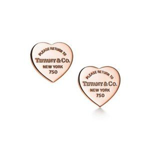 Tiffany Mini Heart Earrings Rose Gold